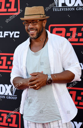 "Rockmond Dunbar, a cast member in the television series ""9-1-1,"" poses at an Emmy For Your Consideration event for the show at the Television Academy, in Los Angeles"
