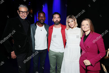 Jeff Goldblum, Sterling K. Brown, Director Drew Pearce, Sofia Boutella and Jodie Foster