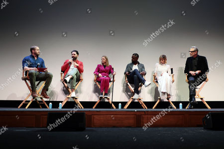 Moderator Dan Casey, Director Drew Pearce, Jodie Foster, Sterling K. Brown, Sofia Boutella and Jeff Goldblum