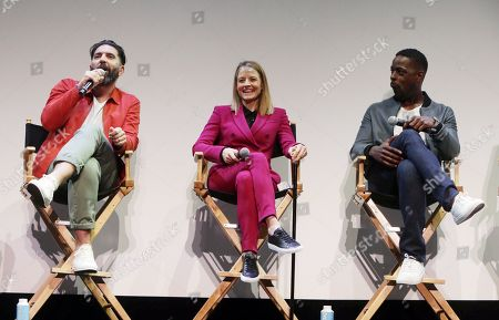 Stock Photo of Director Drew Pearce, Jodie Foster and Sterling K. Brown