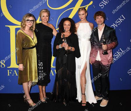 Delaney Tarr, Nadja Swarovski, Diane von Furstenberg, Karlie Kloss, Sander Lak