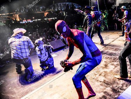 Cowboy Troy, Two-Foot Fred, Spider-Man, John Rich, Big Kenny of Big & Rich