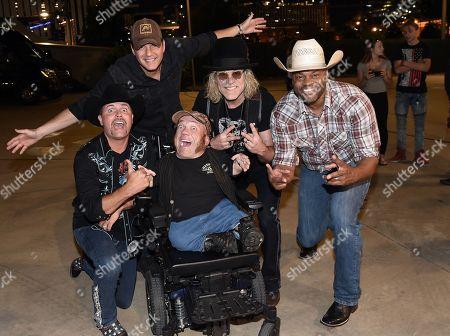 L/R: John Rich of Big & Rich, Singer/Songwriter Rodney Atkins, Two-Foot Fred, Big Kenny of Big & Rich, Cowboy Troy