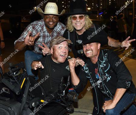 Top row: Cowboy Troy, Big Kenny of Big & Rich Bottom Row: Two-Foot Fred, John Rich of Big & Rich