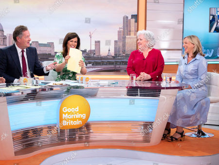 Stock Picture of Piers Morgan and Susanna Reid with Anna May Mangan and Sally Peck