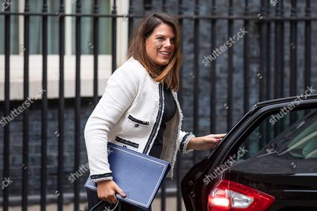 Minister of State for Immigration Caroline Noakes arrives on Downing Street for the Cabinet meeting.
