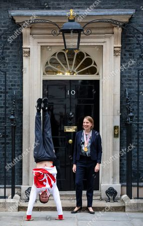 Editorial image of Athletes visit Downing Street, London, UK - 04 Jun 2018
