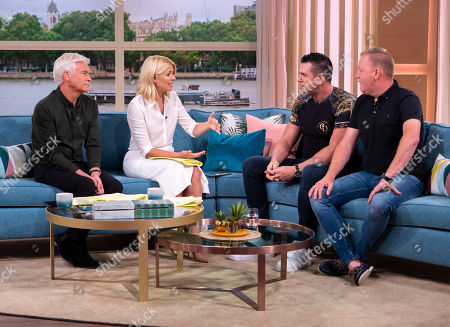 Phillip Schofield and Holly Willoughby with Matt Fiddes and Anthony Reape