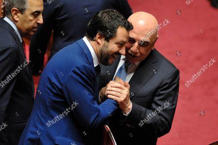 Minister of Interior Matteo Salvini, Adriano Galliani