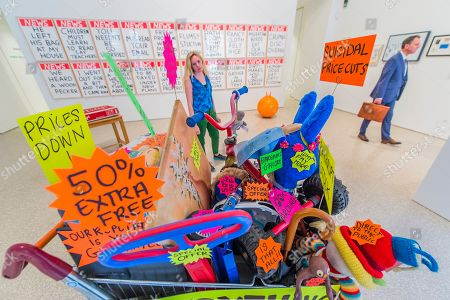 Closing Down Sale by Michael landy , £42,000, and a set of Untitled works by David Shrigley, £5,400 each - Royal Academy celebrates its 250th Summer Exhibition, and to mark this momentous occasion, the exhibition is co-ordinated by Grayson Perry RA.