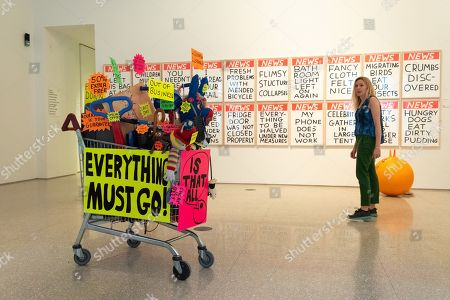 Stock Picture of Closing Down Sale by Michael Landy , £42,000, and a set of Untitled works by David Shrigley, £5,400 each - Royal Academy celebrates its 250th Summer Exhibition