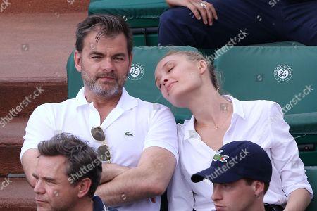 Clovis Cornillac and his wife Lilou Fogli