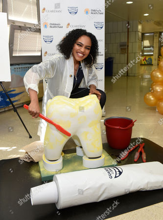 Actress/singer China Anne McClain attends a launch event for the Guardian partnership with the Children's Health Fund, at PS 36 Margaret Douglas School in New York. The partnership will support kids' oral health with a $1 million donation from Guardian