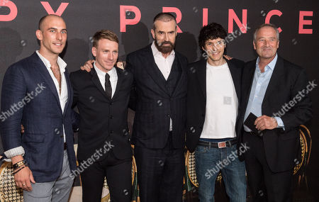 Stock Picture of Tom Colley, Edwin Thomas, Rupert Everett, Colin Morgan and Julian Wadham