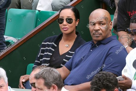 Stock Photo of Mike Tyson with his wife Kiki Spicer