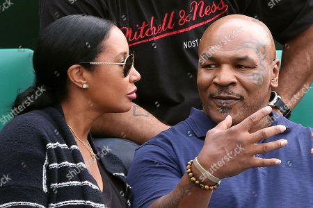 Stock Image of Mike Tyson with his wife Kiki Spicer