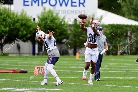 Stock Photo of New England Patriots wide receiver Kenny Britt (88) makes a catch at the team's mini camp held on the practice fields at Gillette Stadium, in Foxborough, Massachusetts