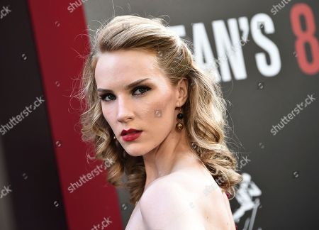 """Actress Charlotte Kirk attends the world premiere of """"Ocean's 8"""" at Alice Tully Hall, in New York"""
