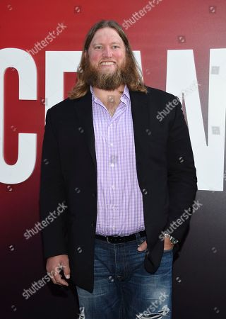 """Nick Mangold attends the world premiere of """"Ocean's 8"""" at Alice Tully Hall, in New York"""