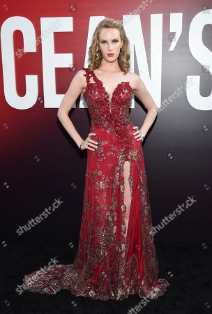 "Charlotte Kirk attends the world premiere of ""Ocean's 8"" at Alice Tully Hall, in New York"