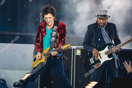 The Rolling Stones - Ronnie Wood and Darryl Jones