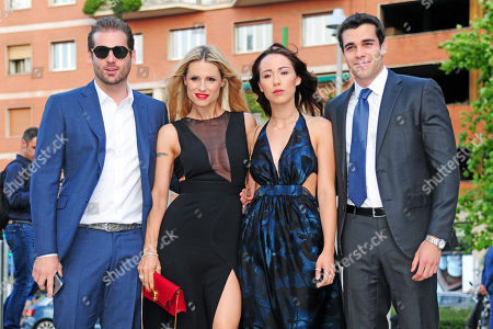 Michelle Hunziker with Tomaso Trussardi and the daughter Aurora