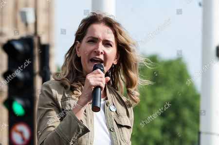 Party leader of the Women's Equality Party Sophie Walker speech during a protest in Parliament Square in London for legalisation of abortion in Northern Ireland following the result of the referendum in the Republic of Ireland last month. Abortion in Northern Ireland is illegal under the Offences against the Person Act dating back to 1861 whereas in England and Wales it has been decriminalised by the 1967 Abortion Act.