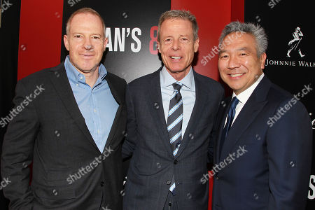 Stock Photo of Toby Emmerich (Producer), Jeff Bewkes (CEO; Time Warner) and Kevin Tsujihara (Chairman; Warner Bros. Entertainment)