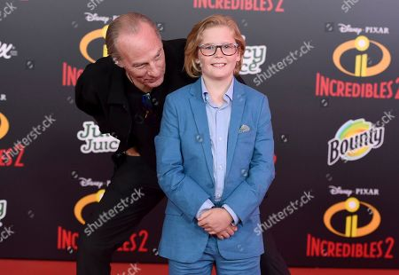 "Huck Milner, Craig T. Nelson. Craig T. Nelson, left, and Huck Milner arrive at the world premiere of ""Incredibles 2"" at the El Capitan Theatre, in Los Angeles"