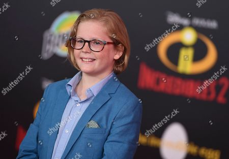 "Stock Picture of Huck Milner arrives at the world premiere of ""Incredibles 2"" at the El Capitan Theatre, in Los Angeles"