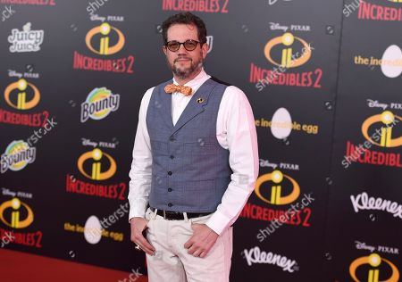 """Composer Michael Giacchino arrives at the world premiere of """"Incredibles 2"""" at the El Capitan Theatre, in Los Angeles"""