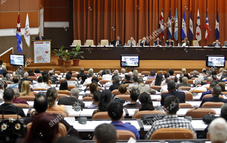 Stock Image of A general view of the inauguration of the XXX edition of the Central American and Caribbean Congress of Cardiology, in Havana, Cuba, 05 June 2018. The opening day of the congress was attended by the President of the World Federation of Cardiology David Wood, who spoke on the 'Global Challenges for the Prevention of Cardiovascular Disease'.