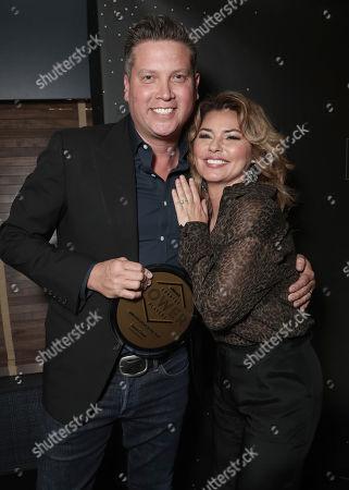 Executive of the Year Jason Owen and Shania Twain