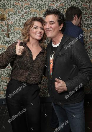 Stock Image of Shania Twain and Scott Borchetta