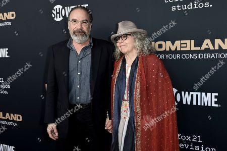 "Mandy Patinkin, Kathryn Grody. Mandy Patinkin, left, and Kathryn Grody attend the ""Homeland"" FYC Event at the Writers Guild Theater, in Beverly Hills, Calif"