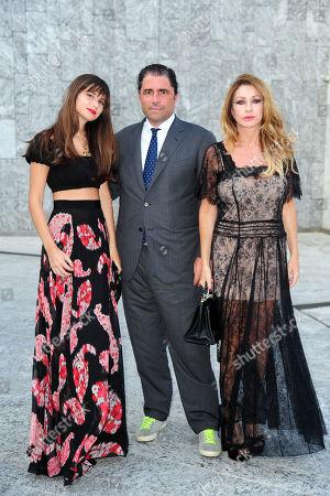 Marco De Benedetti, Paola Ferrari e la figlia Virginia