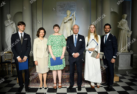 André Olsson, Queen Silvia, Susan Whitlow, King Carl Gustaf, Rut Zettergren, Prince Carl Philip, National Day celebrations, attendance at the prize-giving ceremony for The Thinking Hand drawing competition, Gustav III's Museum of Antiquities, Royal Palace, Stockholm