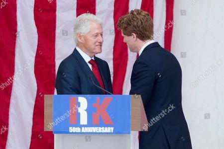Bill Clinton and Joe Kennedy III