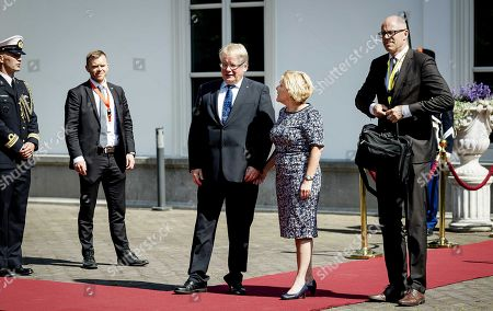 Duch Minister of Defense Ank Bijleveld-Schouten (C-R) welcomes Swedish Minister of Defense Peter Hultqvist (C-L) at a meeting of the Northern Group countries at The Hague, the Netherlands, 06 June 2018. The Northern Group is a partnership of twelve defense ministers from countries bordering the Baltic Sea and Northern Atlantic.