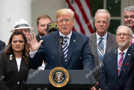 Donald Trump signs VA Mission Act Washington Stock Photos