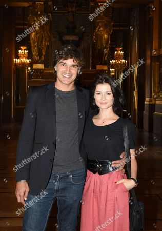 Stock Photo of Francois Vincentelli and Alice Dufour
