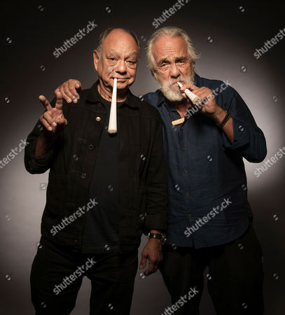 """Cheech Marin, Tommy Chong. Cheech Marin, left, and Tommy Chong pose for a portrait to promote the 40th anniversary of """"Up in Smoke"""", in Los Angeles, Calif"""