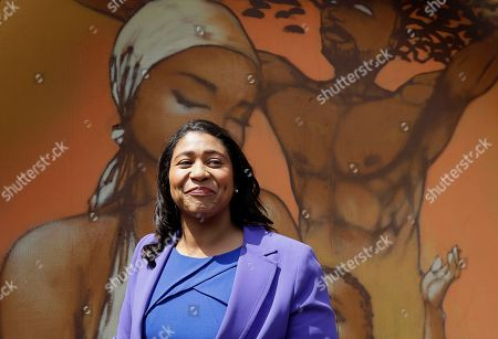 Board of Supervisors President London Breed speaks to reporters in San Francisco, . Former state Sen. Mark Leno pulled ahead in San Francisco's race for mayor by the slimmest of margins early Wednesday under the city's unusual voting system, although Breed maintained her lead in first-place votes