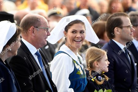 Stock Image of Queen Silvia, Urban Ahlin, Crown Princess Victoria, Princess Estelle and Prince Daniel