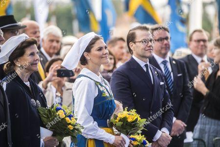 Stock Photo of Queen Silvia, speaker of the parliament Urban Ahlin, Crown Princess Victoria, Princess Estelle, Prince Daniel,