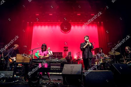 Stock Photo of LCD Soundsystem - Nancy Whang and James Murphy