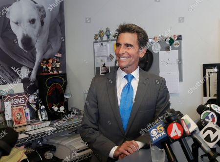 Former state Sen. Mark Leno speaks to reporters in San Francisco, . Leno pulled ahead in San Francisco's race for mayor by the slimmest of margins early Wednesday under the city's unusual voting system, although Board of Supervisors President London Breed maintained her lead in first-place votes