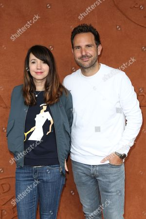 Stock Image of Delphine McCarty and Christophe Michalak