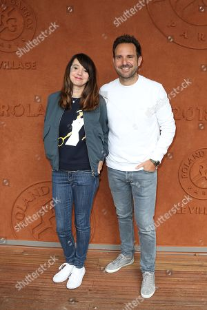 Stock Picture of Delphine McCarty and Christophe Michalak