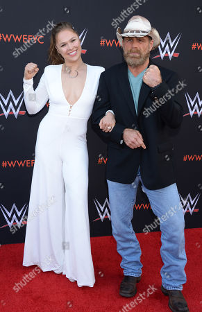 Stock Image of Ronda Rousey and Shawn Michaels
